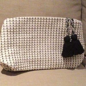 Zara cotton purse with tassels